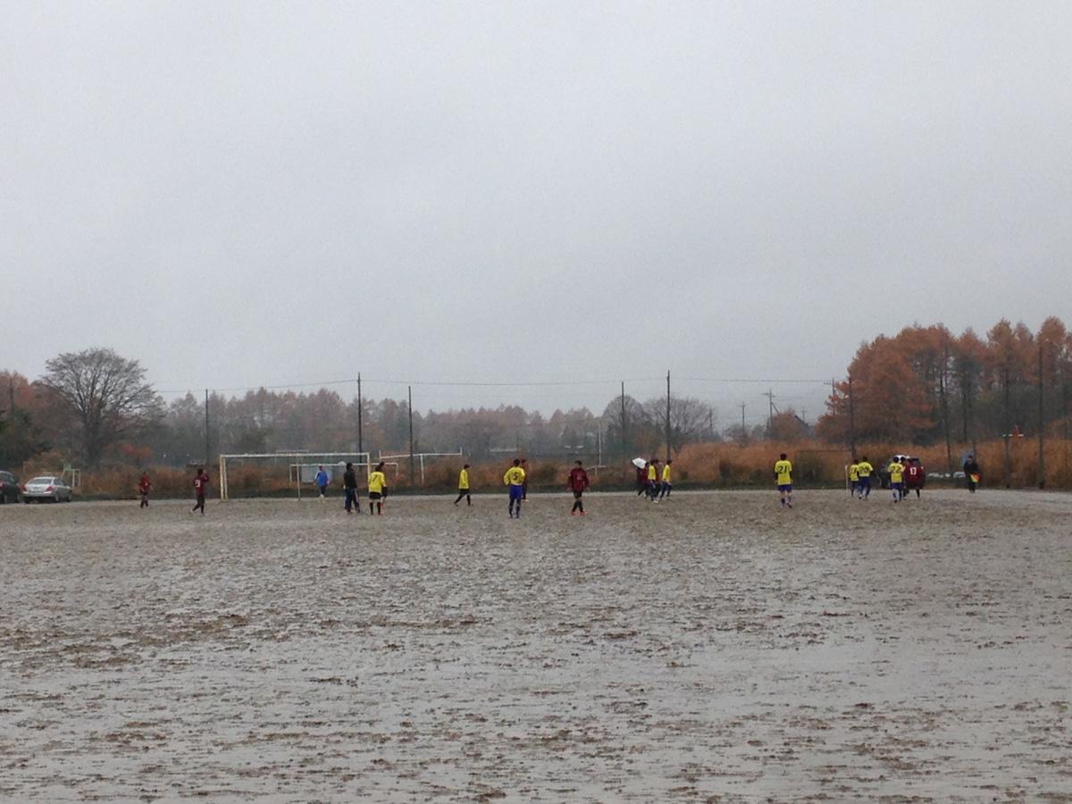 雨サッカー