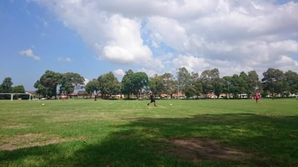 オーストラリアサッカートレーニング場