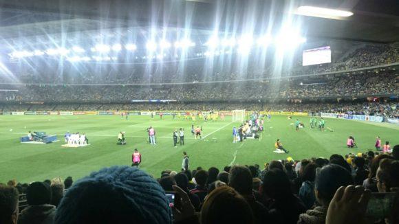 メルボルンサッカー観戦