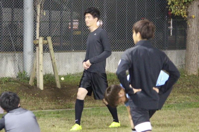 トライアル前サッカートレーニング